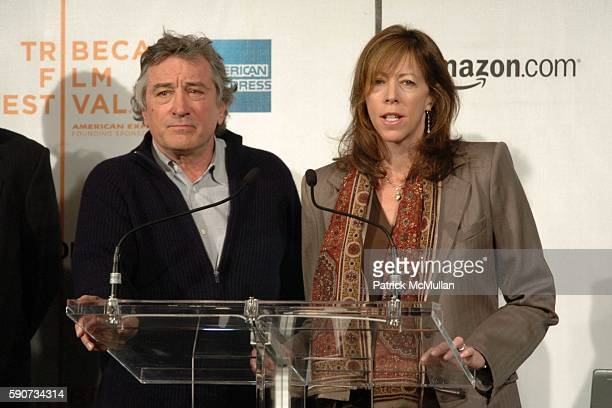 Robert De Niro and Jane Rosenthal attend The Tribeca Film Festival Announces New Collaborative Partnership with American Express and Amazoncom at...