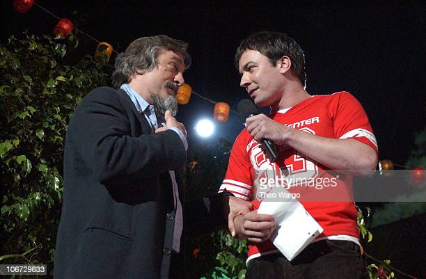 Robert De Niro and Jimmy Fallon during MTV and VH1 Present '100% NYC A Concert Celebrating The Tribeca Film Festival' Show at Battery Park City in...