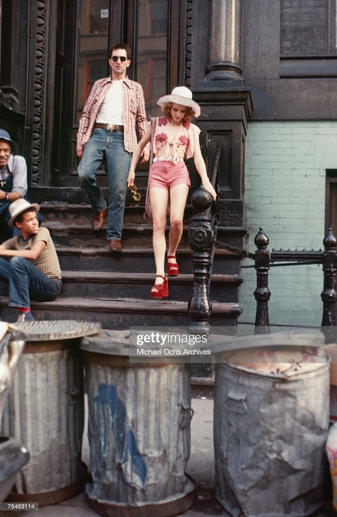 Robert De Niro and Jodie Foster perform a scene in Taxi Driver directed by Martin Scorsese in 1976 in New York New York