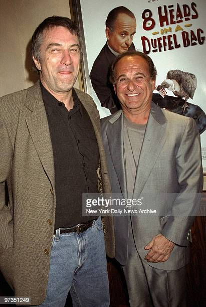 Robert De Niro and Joe Pesci attending party at Tribeca Grill
