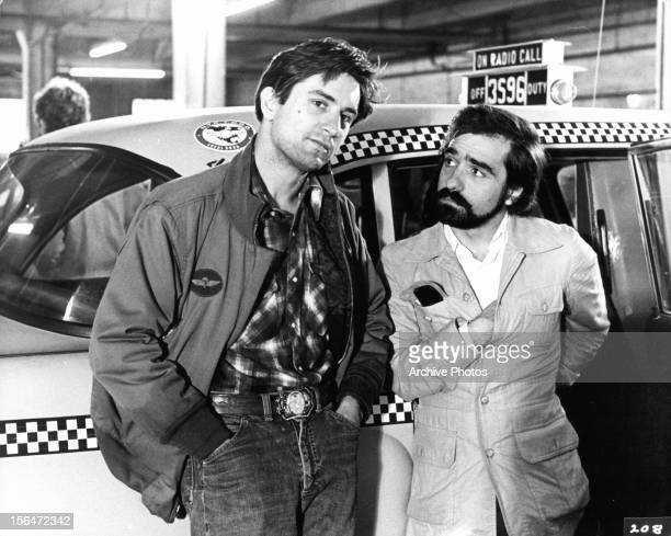 Robert De Niro and Martin Scorsese on the set of the film 'Taxi Driver' 1976