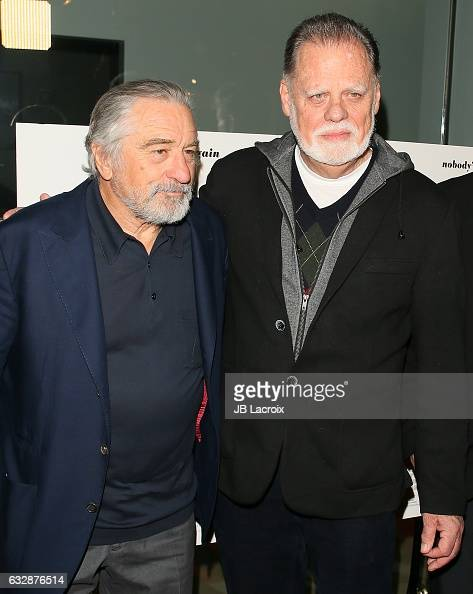 Robert De Niro and Taylor Hackford attend the premiere of Sony Pictures Classics' 'The Comedian' on January 27 2017 in Los Angeles California