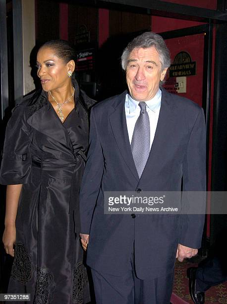 Robert De Niro and wife Grace Hightower are at the Ziegfeld Theatre for the premiere of the movie 'The Good Shepherd' He directed and stars in the...