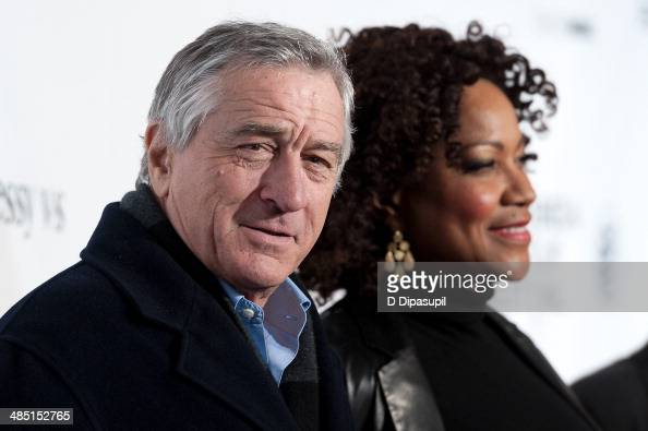 Robert De Niro and wife Grace Hightower attend the 2014 Tribeca Film Festival Opening Night Premiere of 'Time Is Illmatic' at The Beacon Theatre on...