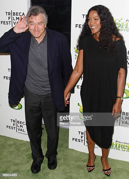 Robert De Niro and wife Grace Hightower attend the premiere of 'Shrek Forever After' as part of the opening night of the 2010 Tribeca Film Festival...