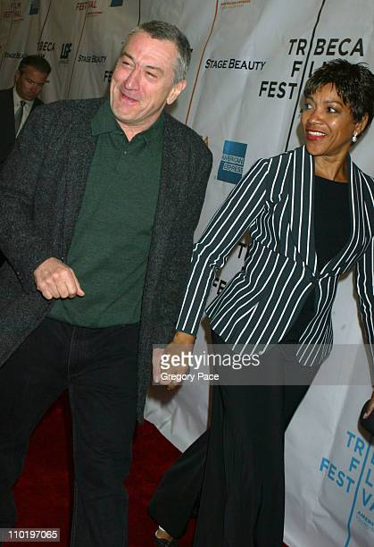 Robert De Niro and wife Grace Hightower during 3rd Annual Tribeca Film Festival 'Stage Beauty' Premiere at Stuyvesant High School in New York City...
