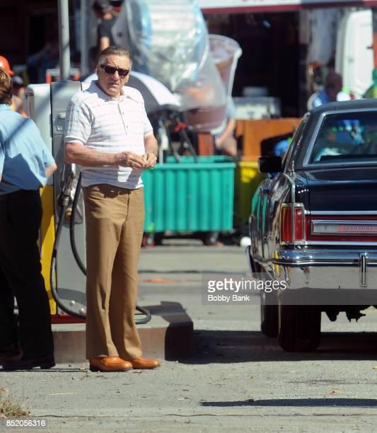 Robert De Niro as 'Frank 'The Irishman' Sheeran on the set of The Irishman on September 22 2017 in New York City