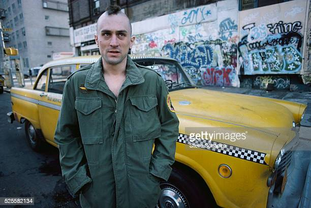 Robert De Niro as Travis Bickle on the set of Martin Scorsese's Taxi Driver