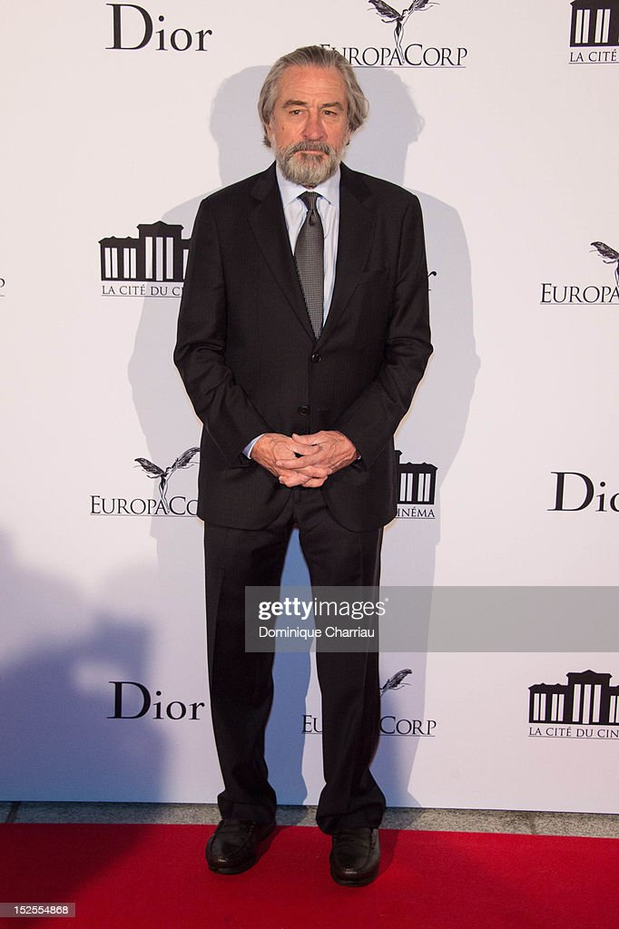 <a gi-track='captionPersonalityLinkClicked' href=/galleries/search?phrase=Robert+De+Niro&family=editorial&specificpeople=201673 ng-click='$event.stopPropagation()'>Robert De Niro</a> attends 'La Cite Du Cinema' Launch on September 21, 2012 in Saint-Denis, France.