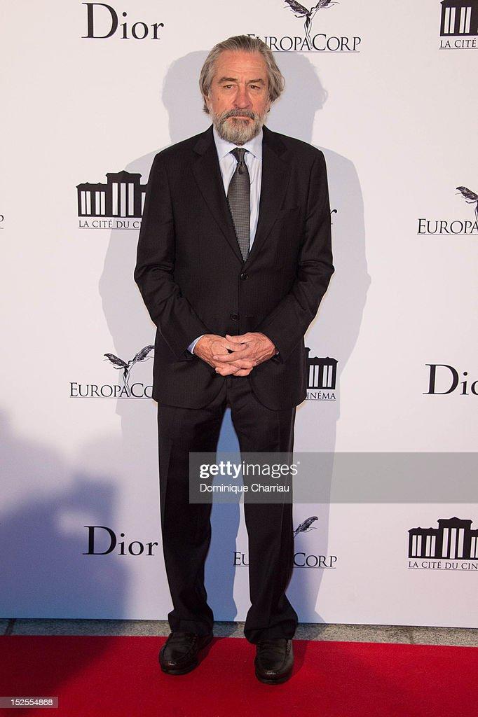 Robert De Niro attends 'La Cite Du Cinema' Launch on September 21, 2012 in Saint-Denis, France.