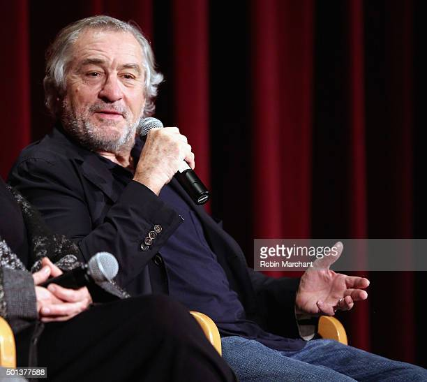 Robert De Niro attends The Academy Of Motion Picture Arts And Sciences Hosts An Official Academy Screening Of JOY on December 14 2015 in New York City