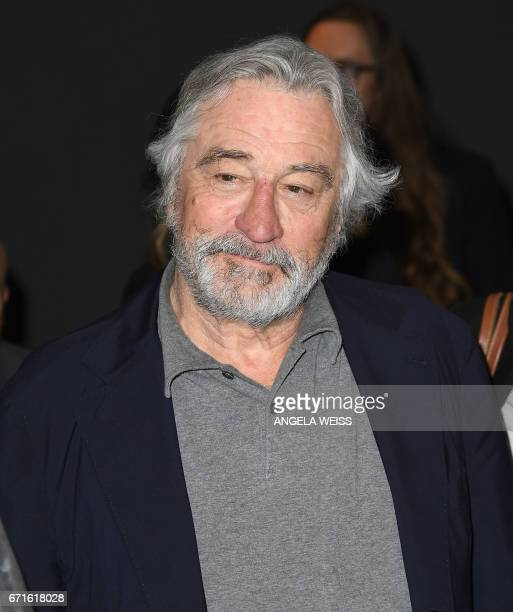 Robert De Niro attends the 'Dog Years' premiere during 2017 Tribeca Film Festival at Cinepolis Chelsea on April 22 2017 in New York City / AFP PHOTO...