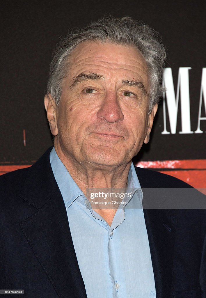 <a gi-track='captionPersonalityLinkClicked' href=/galleries/search?phrase=Robert+De+Niro&family=editorial&specificpeople=201673 ng-click='$event.stopPropagation()'>Robert De Niro</a> attends the 'Malavita' premiere at Europacorp Cinema on October 16, 2013 in Roissy-en-France, France.