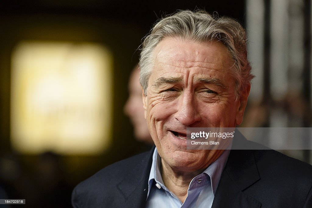 <a gi-track='captionPersonalityLinkClicked' href=/galleries/search?phrase=Robert+De+Niro&family=editorial&specificpeople=201673 ng-click='$event.stopPropagation()'>Robert De Niro</a> attends the 'Malavita' premiere at Kino in der Kulturbrauerei on October 15, 2013 in Berlin, Germany.