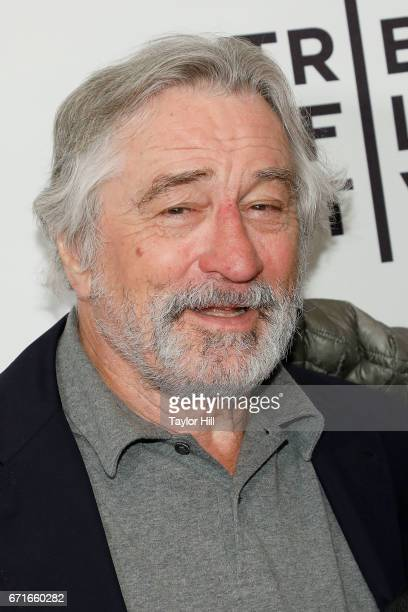 Robert De Niro attends the premiere of 'Dog Years' during the 2017 Tribeca Film Festival at Cinepolis Chelsea Cinemas on April 20 2017 in New York...