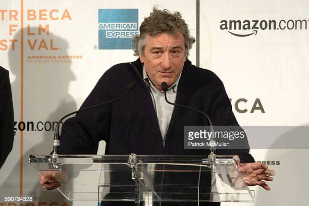 Robert De Niro attends The Tribeca Film Festival Announces New Collaborative Partnership with American Express and Amazoncom at Tribeca Cinemas on...