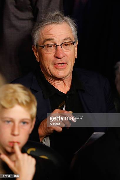 Robert De Niro attends the welterweight unification championship bout on May 2 2015 at MGM Grand Garden Arena in Las Vegas Nevada