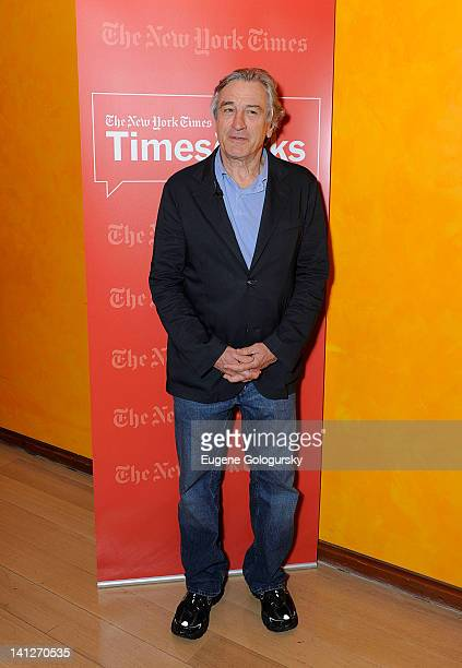 Robert De Niro attends TimesTalk A Conversation with Robert Deniro Paul Weitz at The Times Center on March 13 2012 in New York City