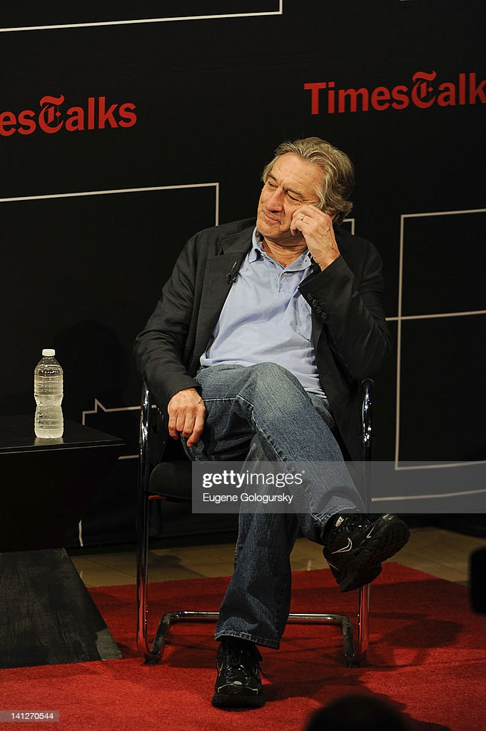A Conversation with Robert Deniro & Paul Weitz at The Times Center on March 13, 2012 in New York City.