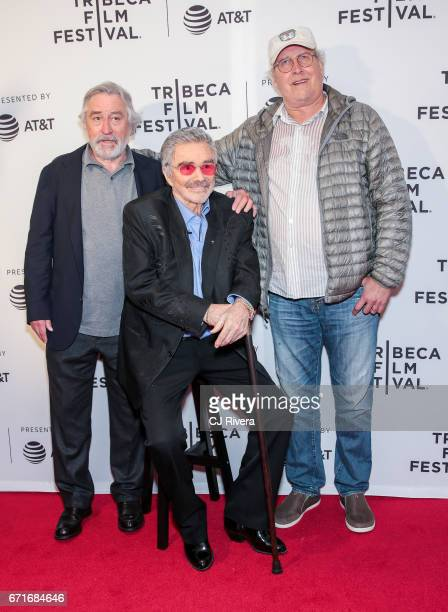 Robert De Niro Burt Reynolds and Chevy Chase attend the 2017 Tribeca Film Festival 'Dog Years' at Cinepolis Chelsea on April 22 2017 in New York City