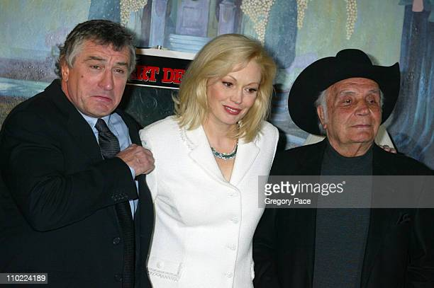Robert De Niro Cathy Moriarty and Jake LaMotta during 'Raging Bull' 25th Anniversary and Collector's Edition DVD Release Celebration Inside Arrivals...