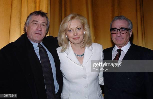 Robert De Niro Cathy Moriarty and Martin Scorsese