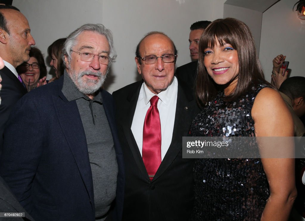 Robert De Niro, Clive Davis and Grace Hightower attend the 2017 Tribeca Film Festival Opening Night Party at Tavern On The Green on April 19, 2017 in New York City.