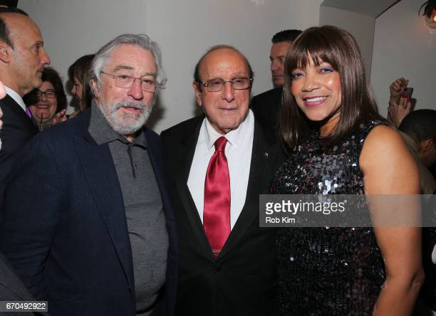 Robert De Niro Clive Davis and Grace Hightower attend the 2017 Tribeca Film Festival Opening Night Party at Tavern On The Green on April 19 2017 in...