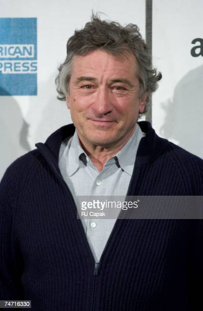 Robert De Niro cofounder of the Tribeca Film Festival during Amazoncom American Express and Tribeca Film Festival Announce New National Collaborative...