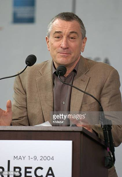 Robert De Niro during 3rd Annual Tribeca Film Festival Opening Press Conference at American Express Lobby at 3 World Financial Center in New York...