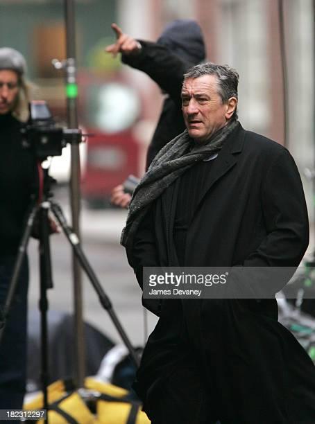 Robert De Niro during Annie Leibovitz Photo Shoot with Robert De Niro November 18 2004 at Tribeca New York City in New York City New York United...