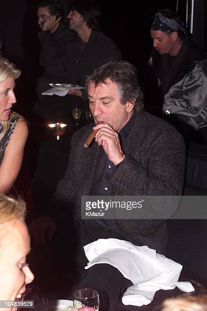 Robert De Niro during Reception to celebrate the opening of 'Giorgio Armani Exhibition' which will run through January 17 2001 at Solomom Guggenheim...