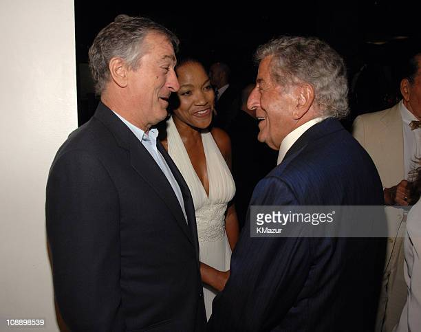 Robert De Niro Grace Hightower and Tony Bennett during Tony Bennett's 80th Birthday Party Inside in New York City New York United States