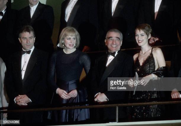 Robert De Niro Helen Morris Martin Scorsese and Winona Ryder