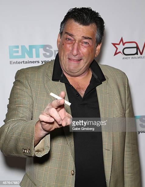 Robert De Niro impersonator Robert Nash arrives at ENTSpeaks at the Inspire Theatre on October 21 2014 in Las Vegas Nevada