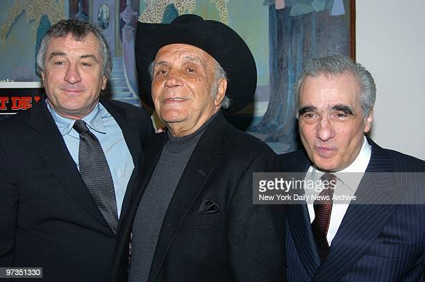 Robert De Niro Jake LaMotta and Martin Scorsese get together at the Ziegfeld Theater for a special screening to celebrate the 25th anniversary of...