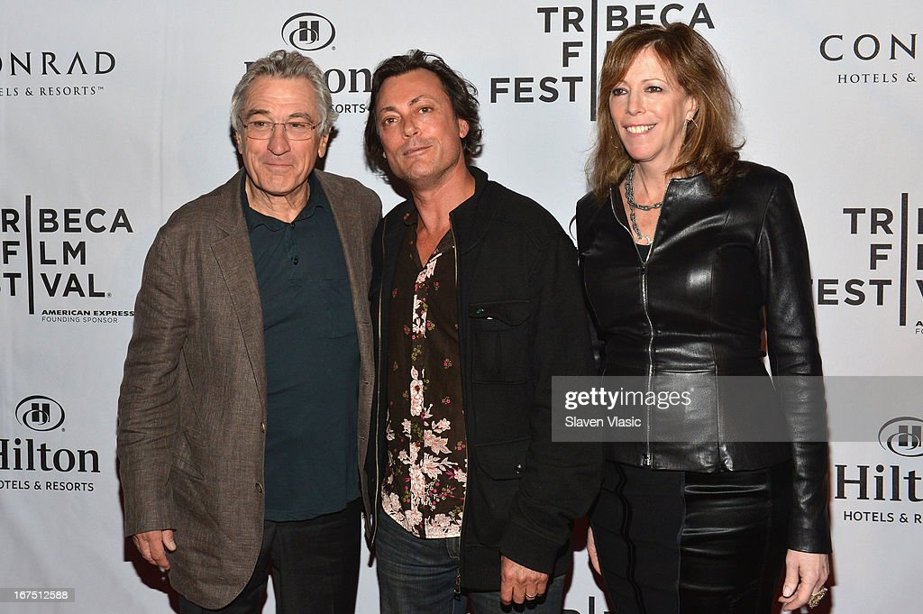Robert De Niro, Kim Mordaunt and Jane Rosenthal attends the TFF Awards Night during the 2013 Tribeca Film Festival on April 25, 2013 in New York City.