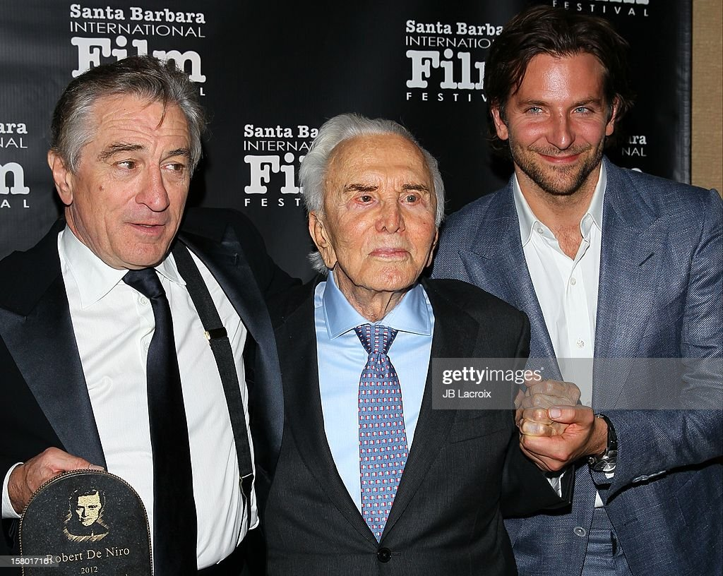 <a gi-track='captionPersonalityLinkClicked' href=/galleries/search?phrase=Robert+De+Niro&family=editorial&specificpeople=201673 ng-click='$event.stopPropagation()'>Robert De Niro</a>, <a gi-track='captionPersonalityLinkClicked' href=/galleries/search?phrase=Kirk+Douglas+-+Actor&family=editorial&specificpeople=13450359 ng-click='$event.stopPropagation()'>Kirk Douglas</a> and <a gi-track='captionPersonalityLinkClicked' href=/galleries/search?phrase=Bradley+Cooper&family=editorial&specificpeople=680224 ng-click='$event.stopPropagation()'>Bradley Cooper</a> attend the 7th Annual Santa Barbara International Film Festival - <a gi-track='captionPersonalityLinkClicked' href=/galleries/search?phrase=Kirk+Douglas+-+Actor&family=editorial&specificpeople=13450359 ng-click='$event.stopPropagation()'>Kirk Douglas</a> Award For Excellence In Film Honoring Robert DeNiro at Bacara Resport And Spa on December 8, 2012 in Santa Barbara, California.