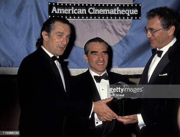 Robert De Niro Martin Scorsese and Sydney Pollack
