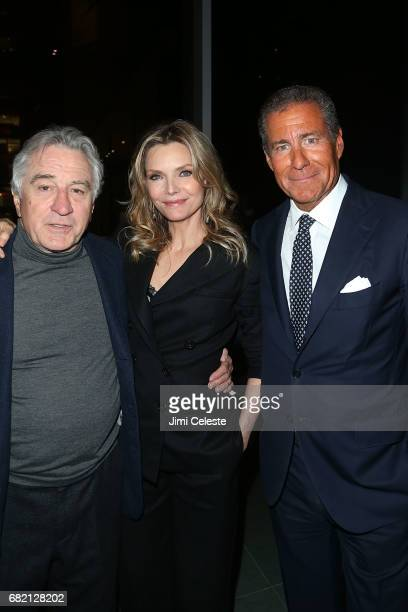Robert De Niro Michelle Pfeiffer and Richard Plepler attend the after party for 'The Wizard of Lies' New York preimere at The Museum of Modern Art on...