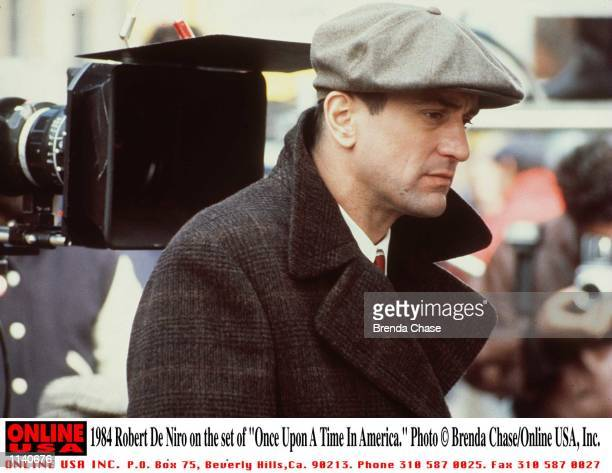 Robert De Niro on the set of 'Once Upon A Time In America' Stock Photo