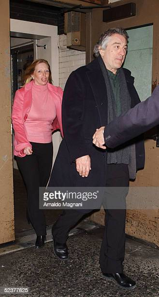 Robert De Niro on the way out of Saks Fifth Avenue after a press conference to launch the new EDUN clothing line by Bono March 11 2005 in New York...