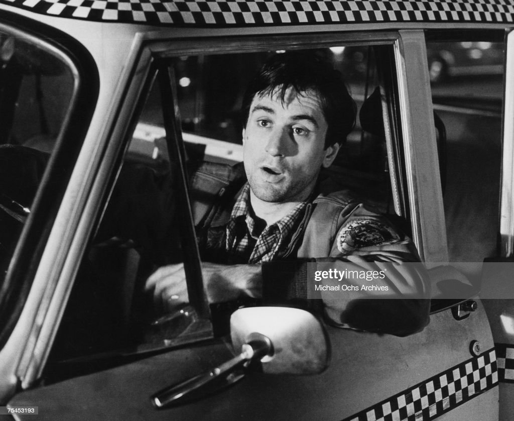 Robert De Niro performs a scene in Taxi Driver directed by Martin Scorsese in 1976 in New York, New York.