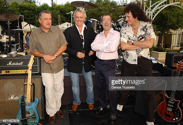 Robert De Niro producer Roger Taylor of Queen Ben Elton book writer and Brian May of Queen