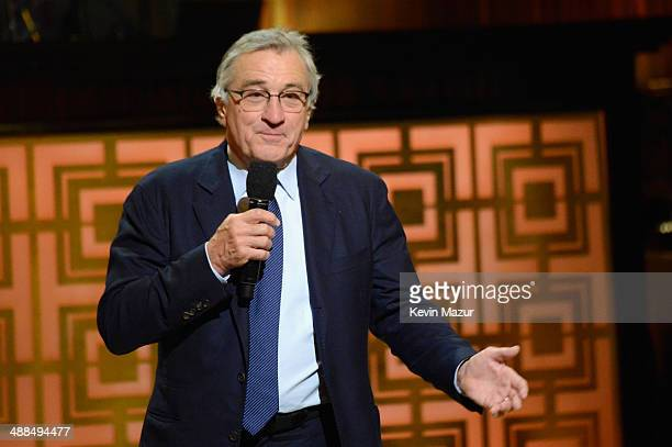 Robert De Niro speaks onstage at Spike TV's 'Don Rickles One Night Only' on May 6 2014 in New York City