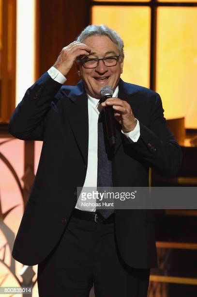 Robert De Niro speaks onstage during 'Spike's One Night Only Alec Baldwin' at The Apollo Theater on June 25 2017 in New York City
