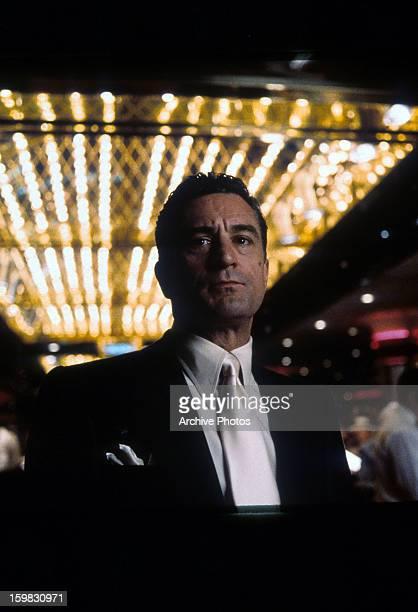 Robert De Niro standing in a casino in a scene from the film 'Casino' 1995