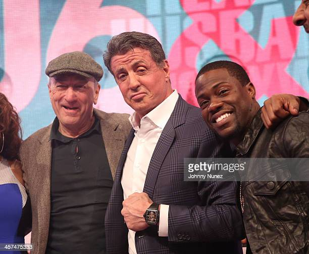 Robert De Niro Sylvester Stallone and Kevin Hart visit BET's '106 Park' at BET Studios on December 16 2013 in New York City