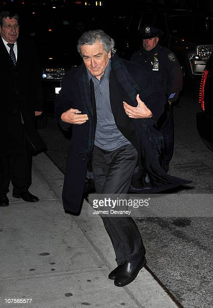 Robert De Niro visits 'Late Show With David Letterman' at the Ed Sullivan Theater on December 13 2010 in New York City