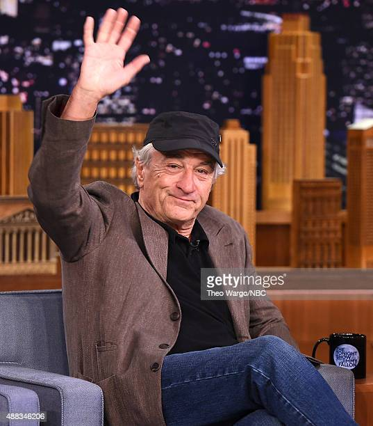 Robert De Niro Visits 'The Tonight Show Starring Jimmy Fallon' at Rockefeller Center on September 15 2015 in New York City